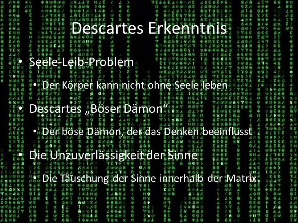 "Descartes Erkenntnis Seele-Leib-Problem Descartes ""Böser Dämon"