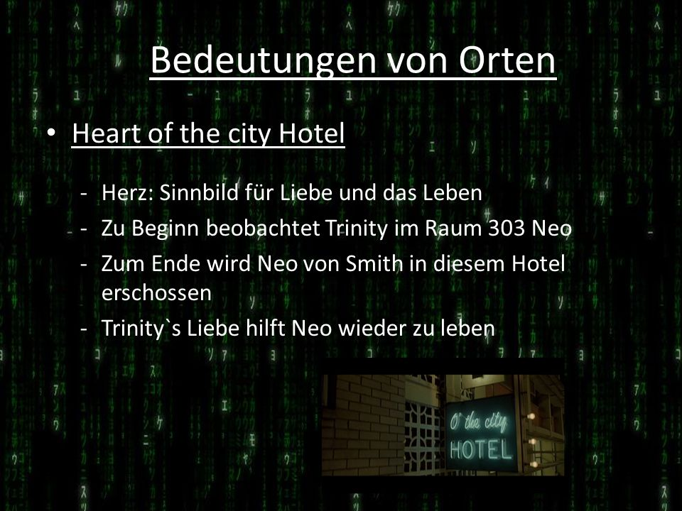 Bedeutungen von Orten Heart of the city Hotel