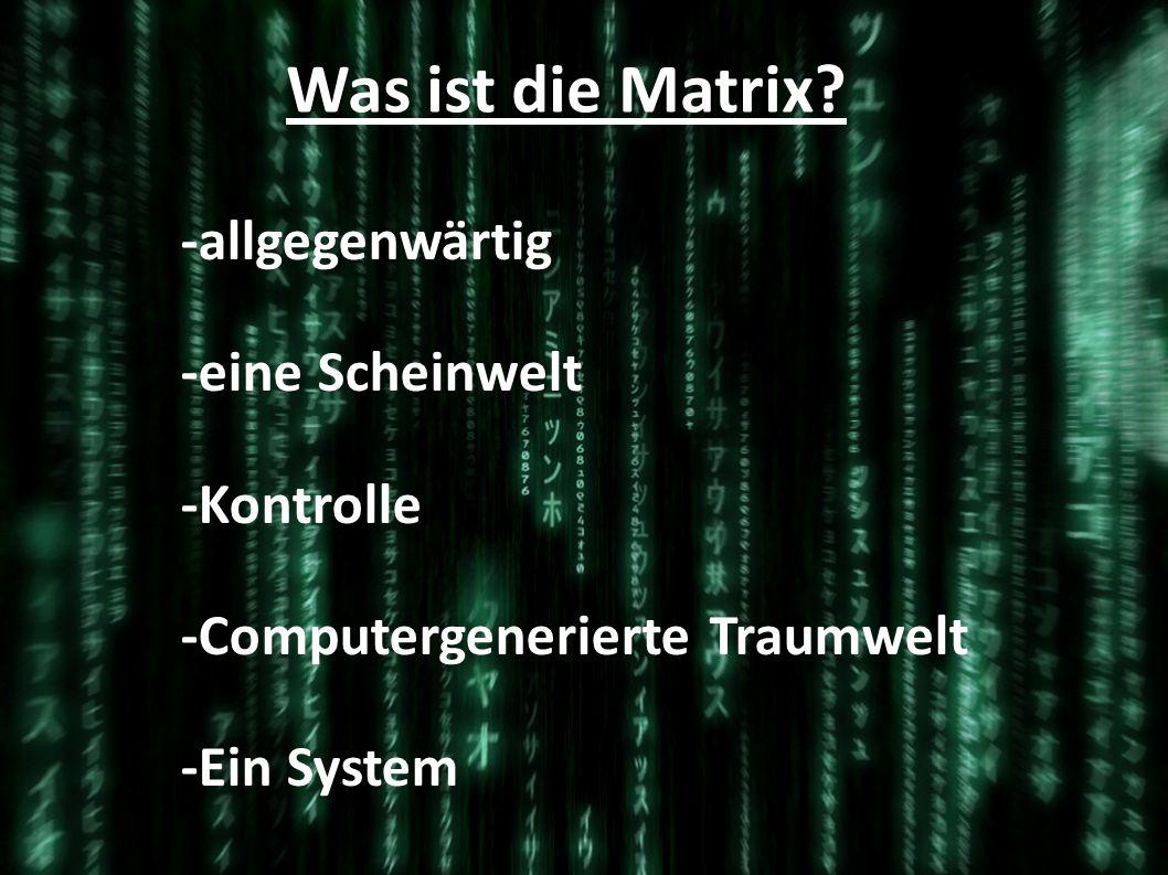 Was ist die Matrix -allgegenwärtig -eine Scheinwelt -Kontrolle