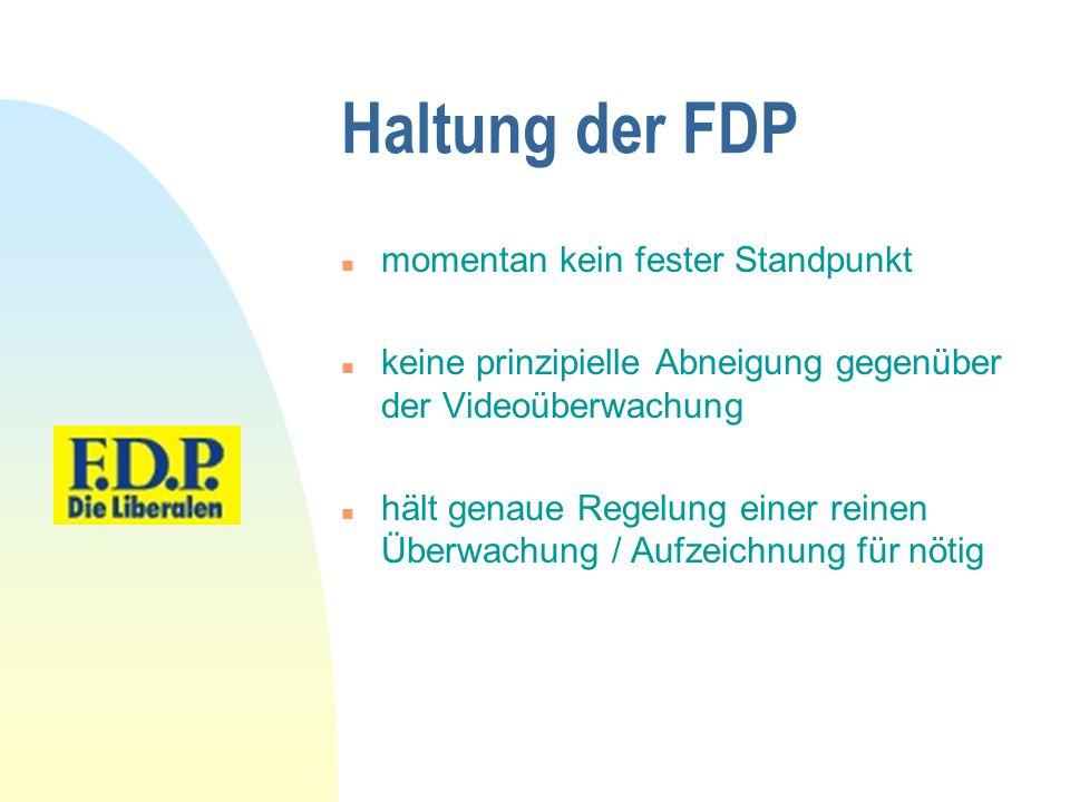 Haltung der FDP momentan kein fester Standpunkt