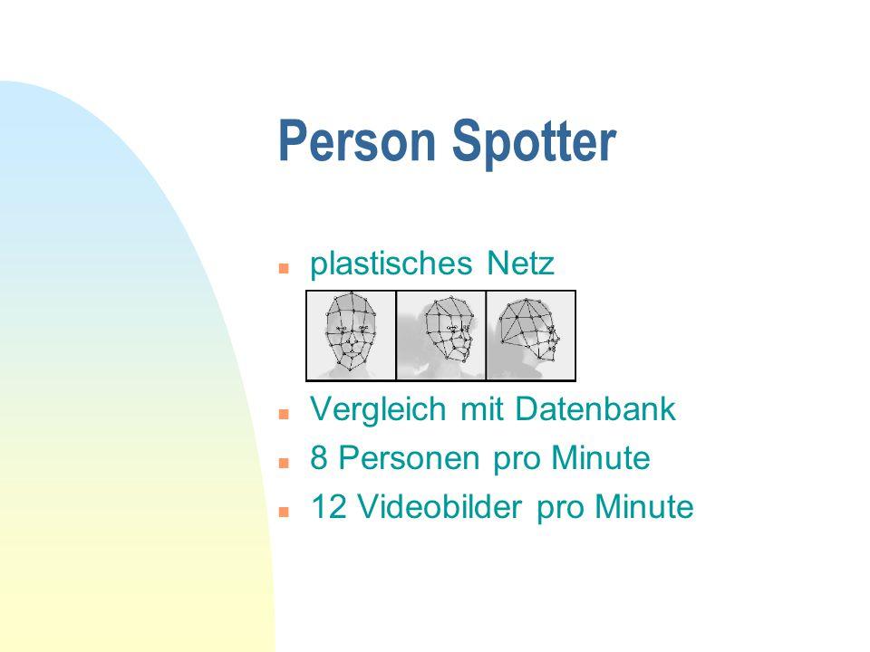 Person Spotter plastisches Netz Vergleich mit Datenbank