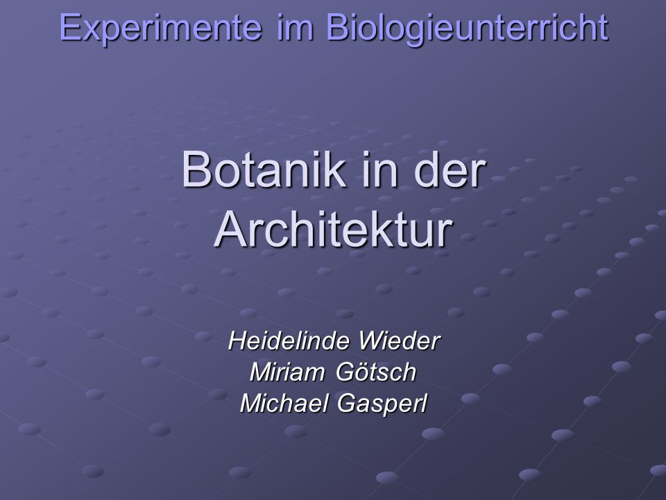 Botanik in der Architektur