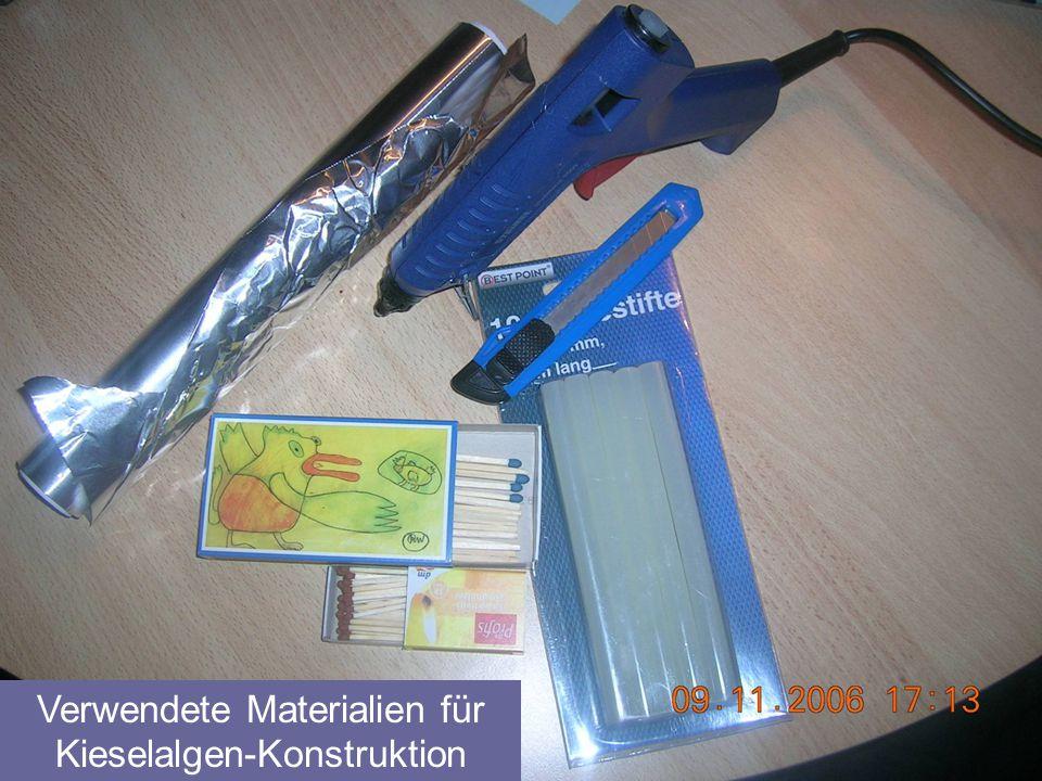 Verwendete Materialien für Kieselalgen-Konstruktion