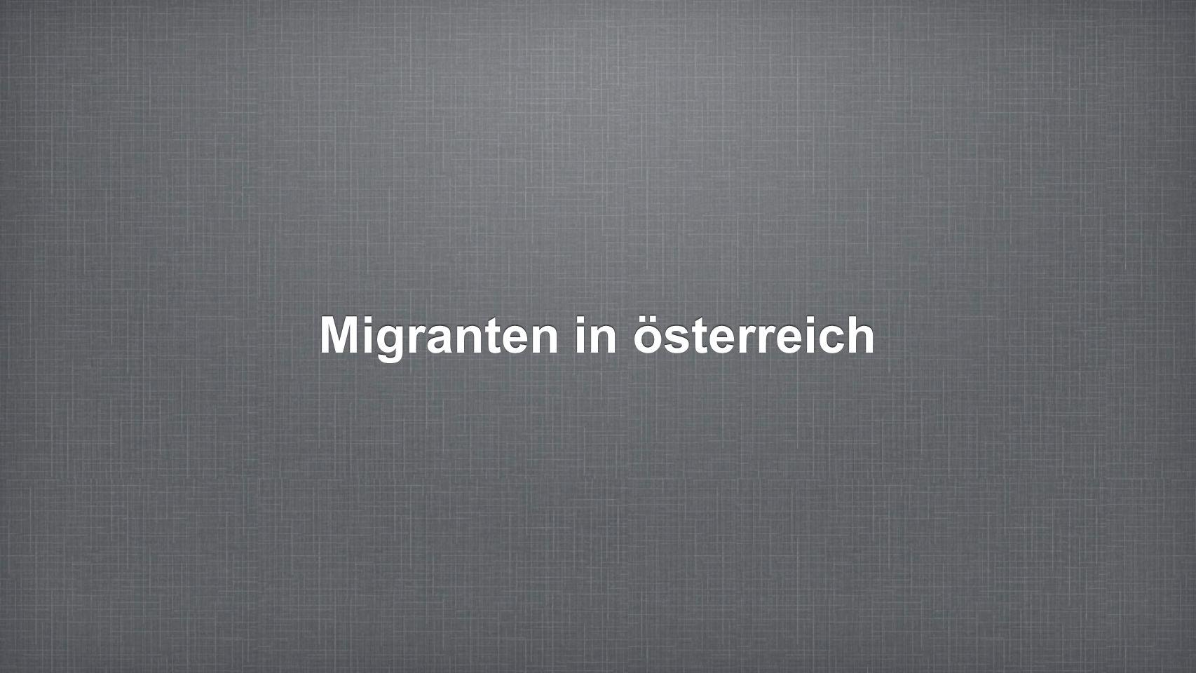 Migranten in österreich
