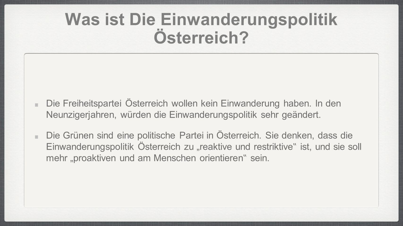 Was ist Die Einwanderungspolitik Österreich