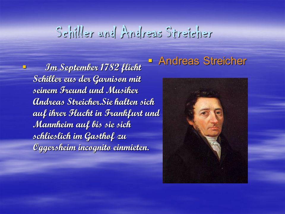 Schiller und Andreas Streicher