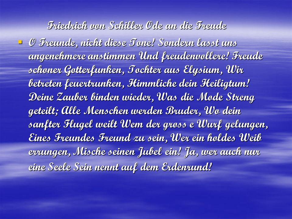 Friedrich von Schiller Ode an die Freude