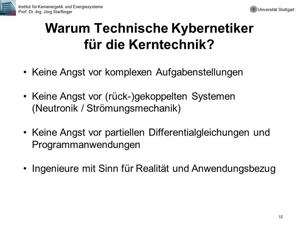 Warum Technische Kybernetiker für die Kerntechnik