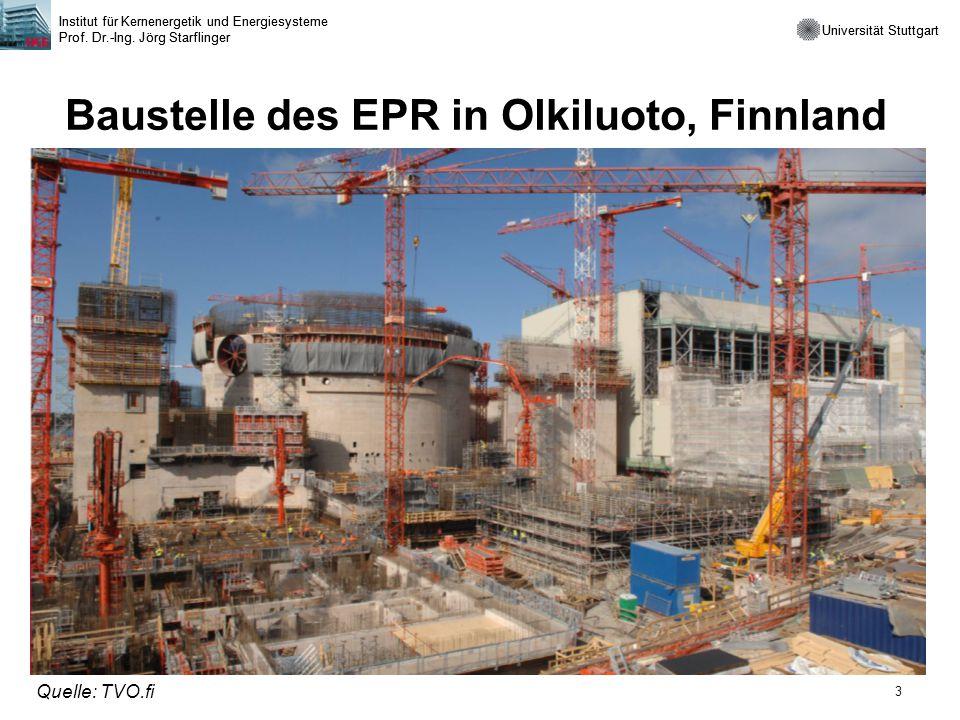 Baustelle des EPR in Olkiluoto, Finnland