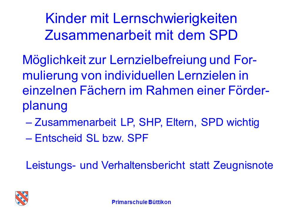 Kinder mit Lernschwierigkeiten Zusammenarbeit mit dem SPD