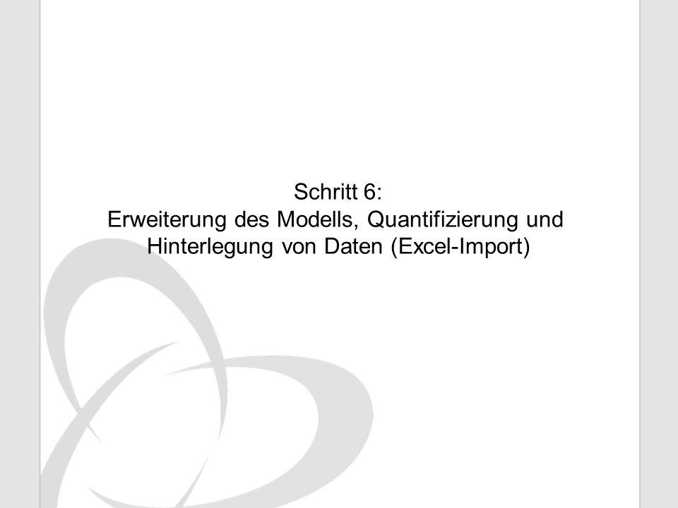 Erweiterung des Modells, Quantifizierung und