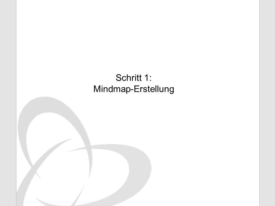 Schritt 1: Mindmap-Erstellung