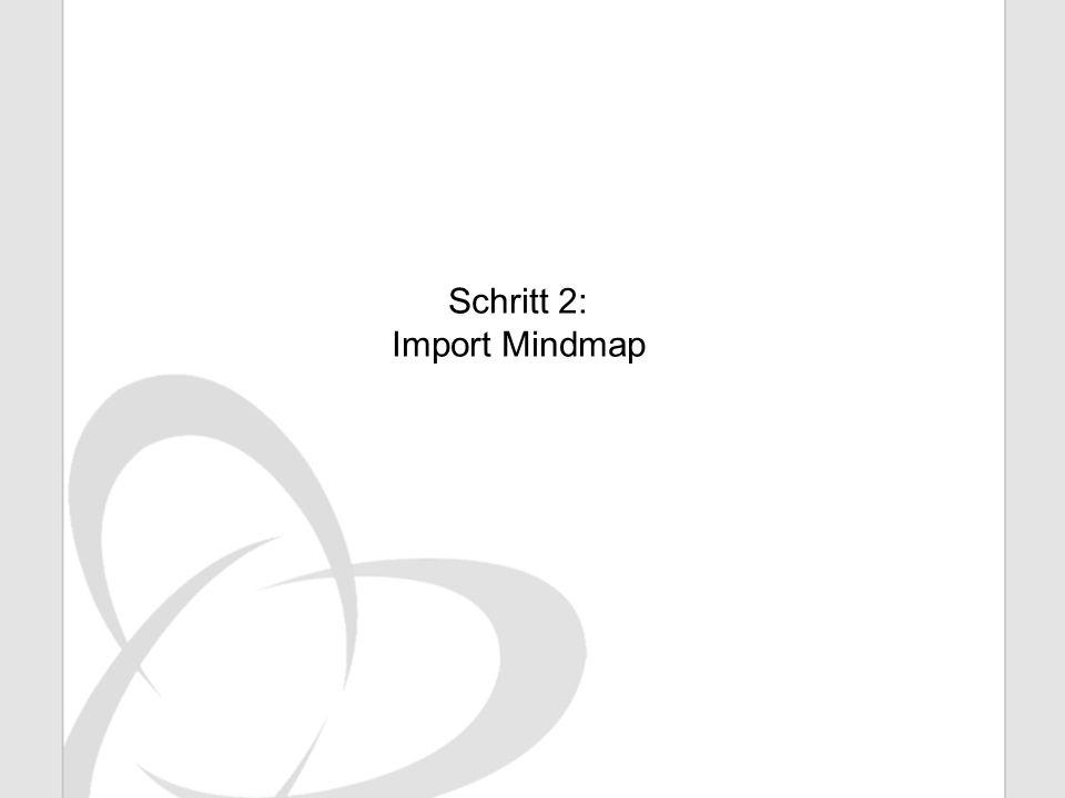 Schritt 2: Import Mindmap