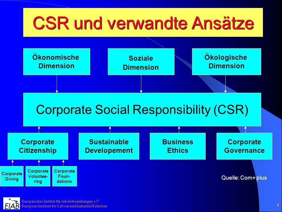 CSR und verwandte Ansätze