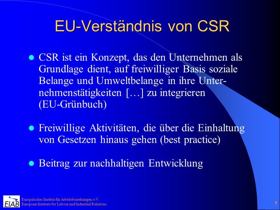EU-Verständnis von CSR