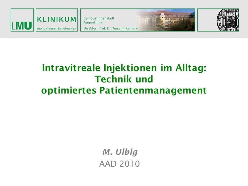 Intravitreale Injektionen im Alltag: Technik und optimiertes Patientenmanagement