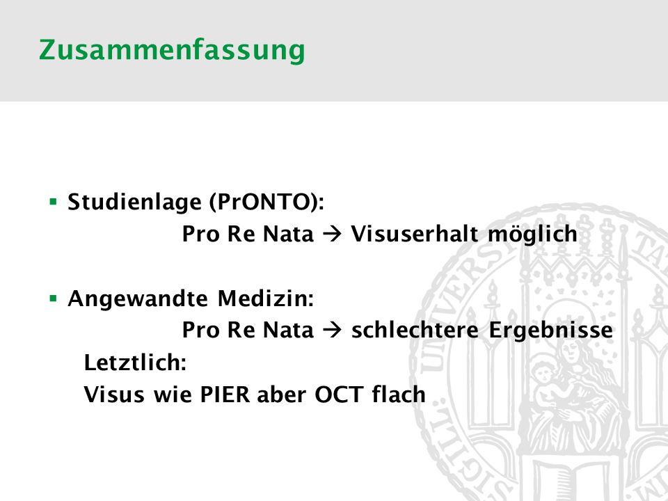 Zusammenfassung Studienlage (PrONTO):