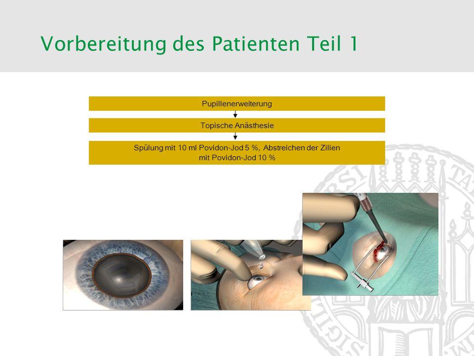 Vorbereitung des Patienten Teil 1