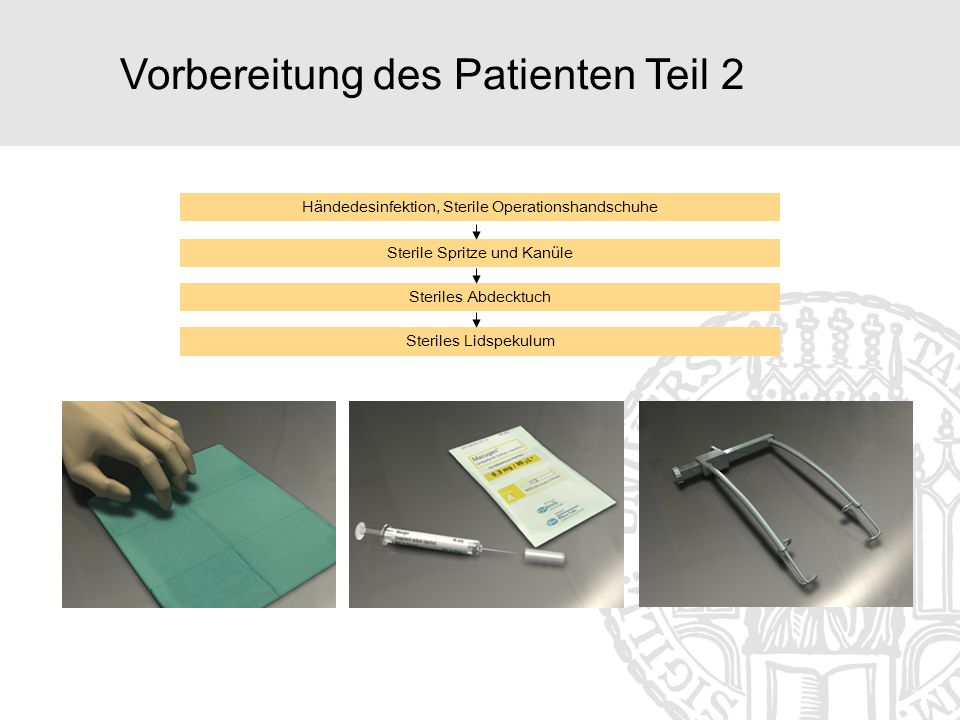 Vorbereitung des Patienten Teil 2
