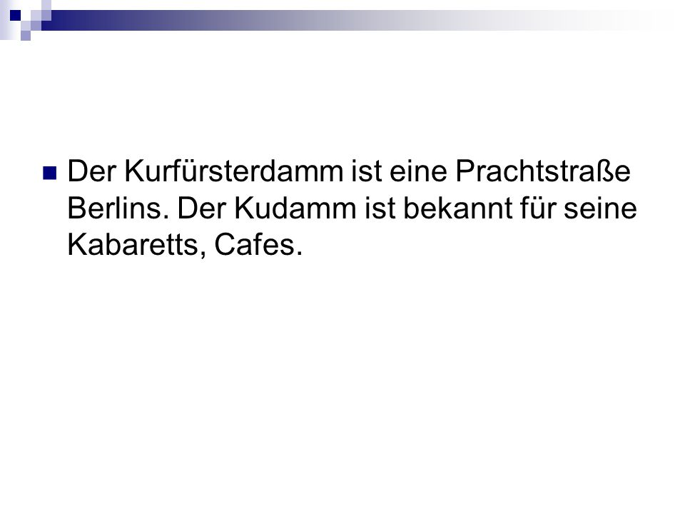 Der Kurfürsterdamm ist eine Prachtstraße Berlins