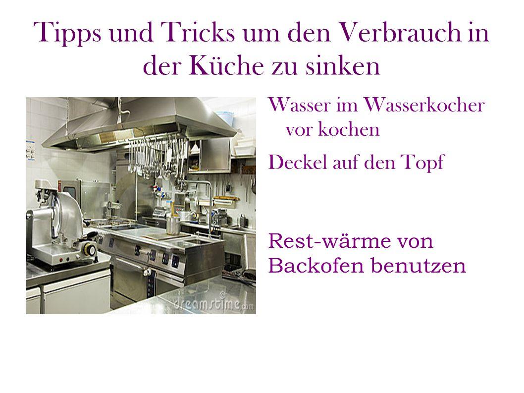 Tipps und Tricks um den Verbrauch in der Küche zu sinken