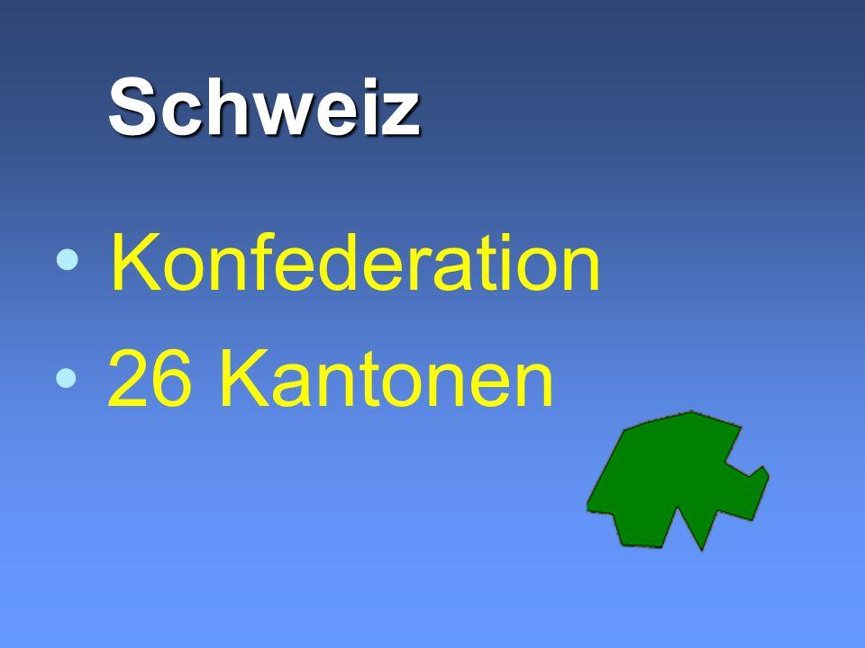 Schweiz Konfederation 26 Kantonen