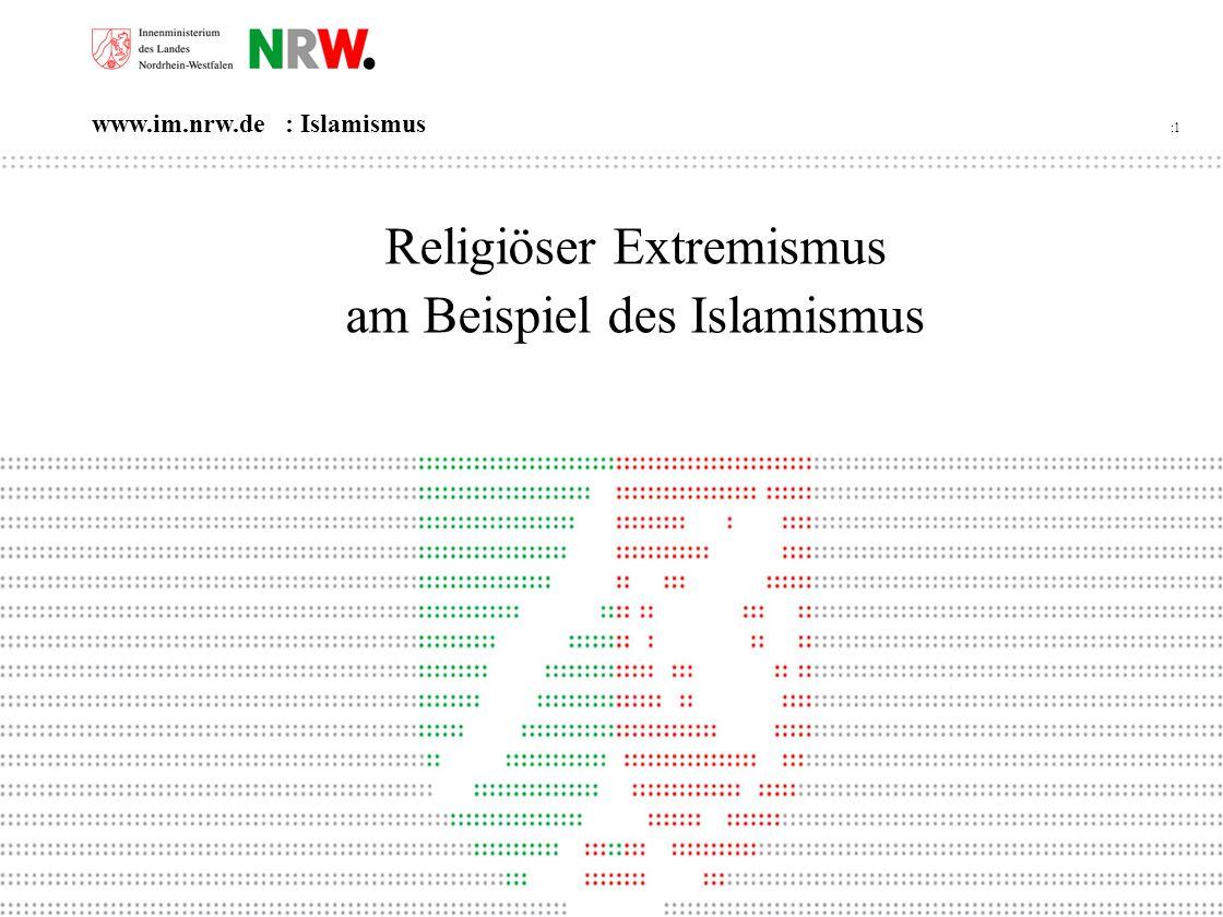 Religiöser Extremismus am Beispiel des Islamismus