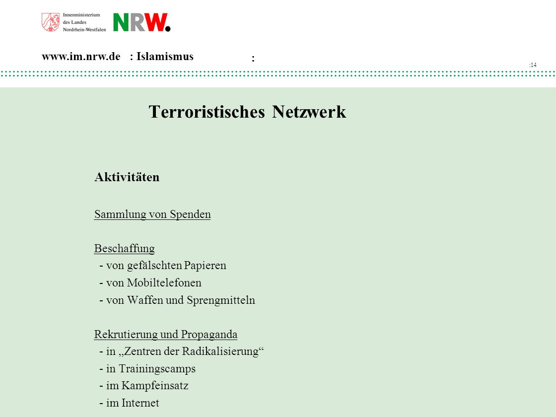 Terroristisches Netzwerk