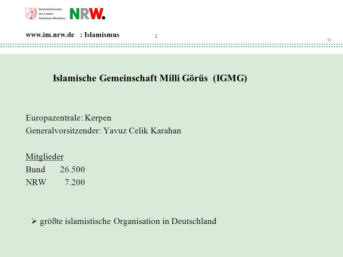 Islamische Gemeinschaft Milli Görüs (IGMG)