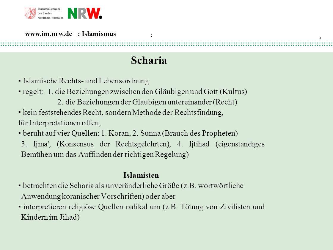 Scharia ▪ Islamische Rechts- und Lebensordnung