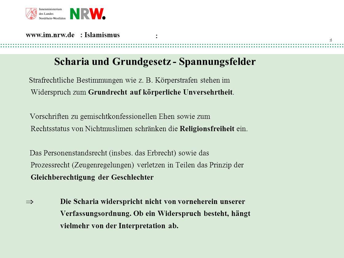 Scharia und Grundgesetz - Spannungsfelder