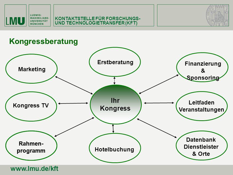 Kongressberatung Ihr Kongress www.lmu.de/kft Erstberatung