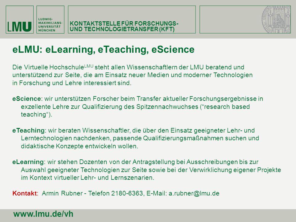 eLMU: eLearning, eTeaching, eScience
