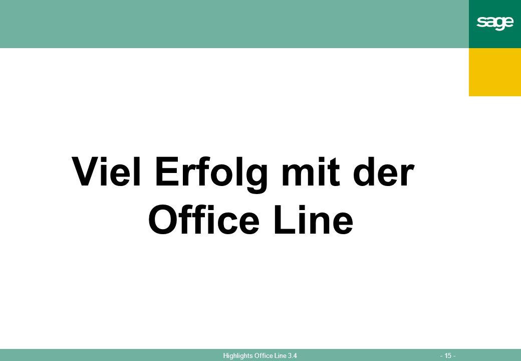 Viel Erfolg mit der Office Line
