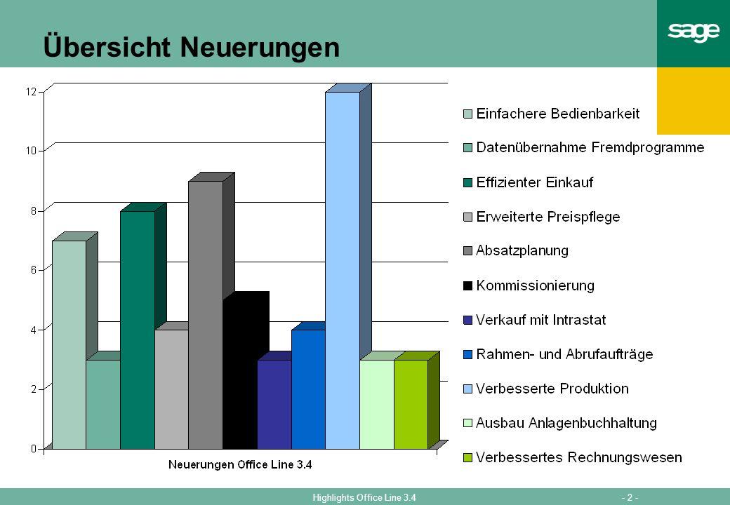 Übersicht Neuerungen Die Neuerungen auf einen Blick  Insgesamt über 60 Neuerungen in Version 3.4.