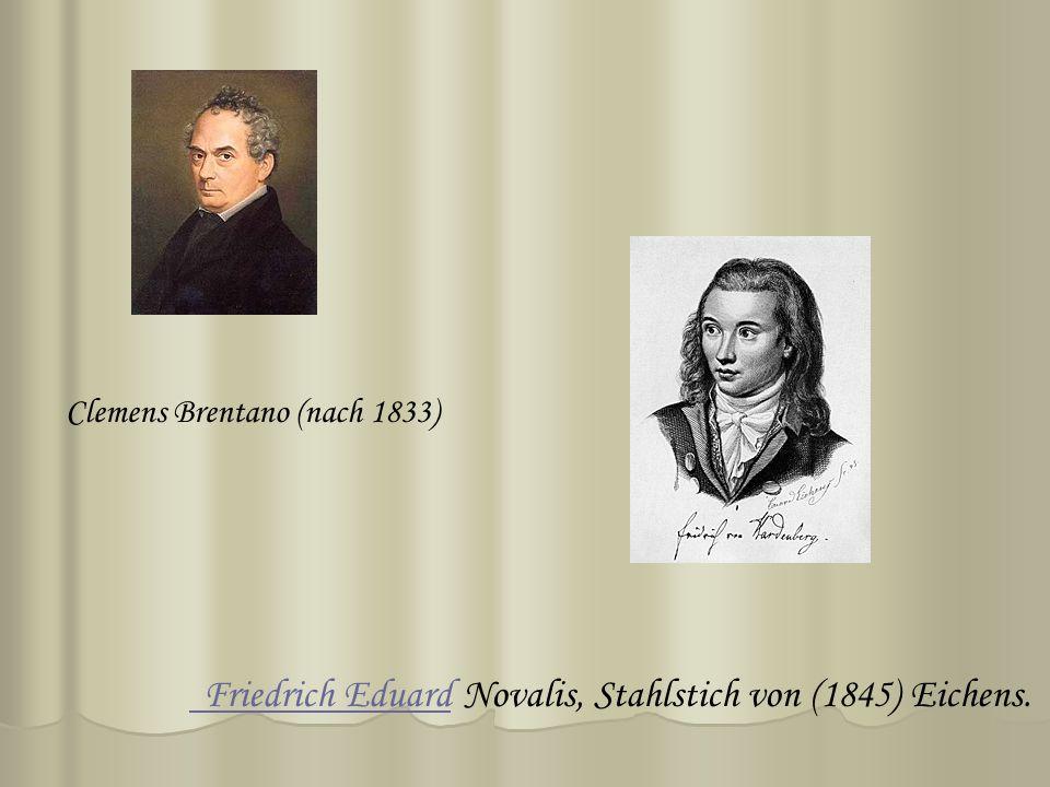 Novalis, Stahlstich von (1845) Eichens. Friedrich Eduard