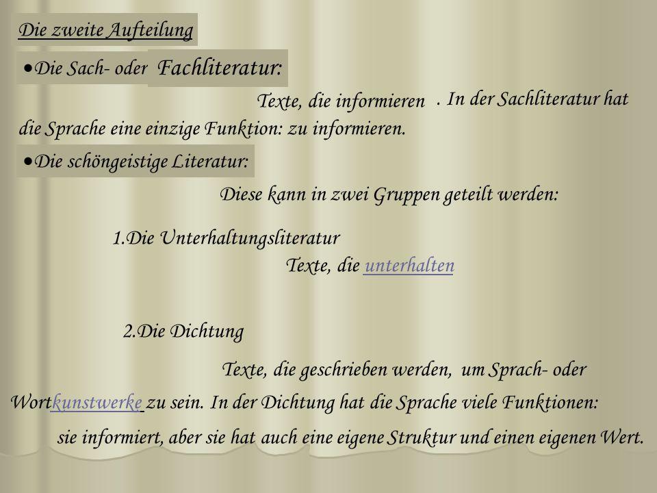 Fachliteratur: Die zweite Aufteilung Die Sach- oder