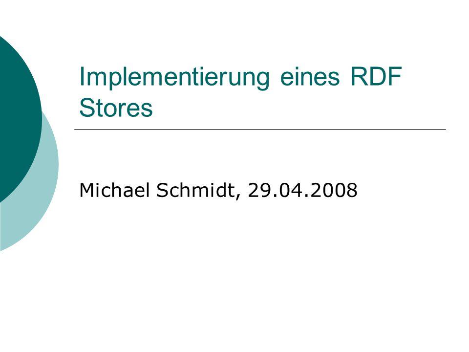 Implementierung eines RDF Stores