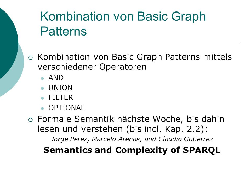 Kombination von Basic Graph Patterns