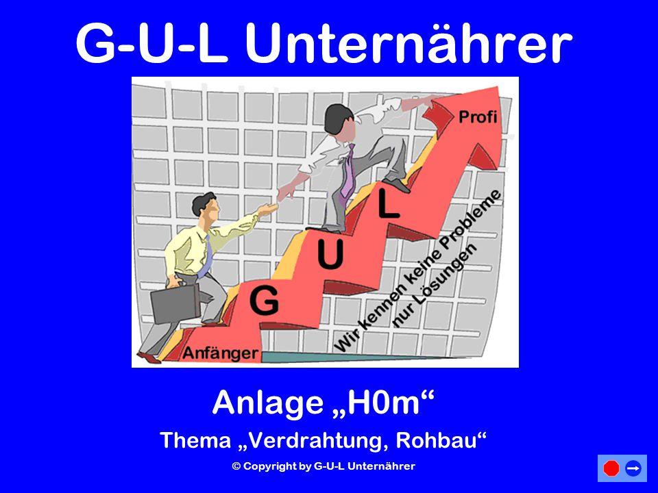 """G-U-L Unternährer Anlage """"H0m Thema """"Verdrahtung, Rohbau"""