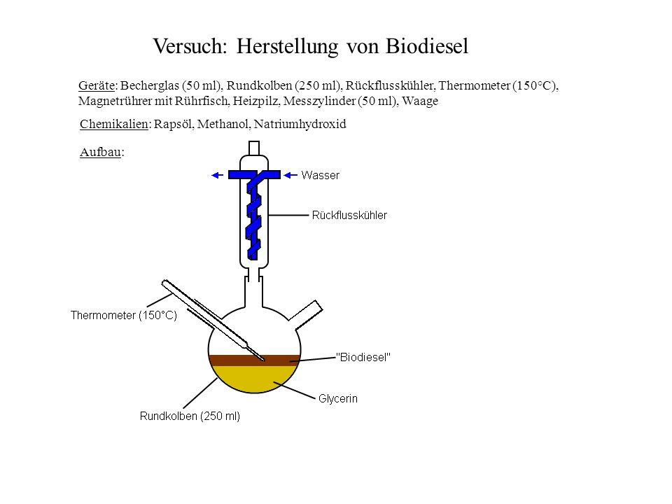 Versuch: Herstellung von Biodiesel