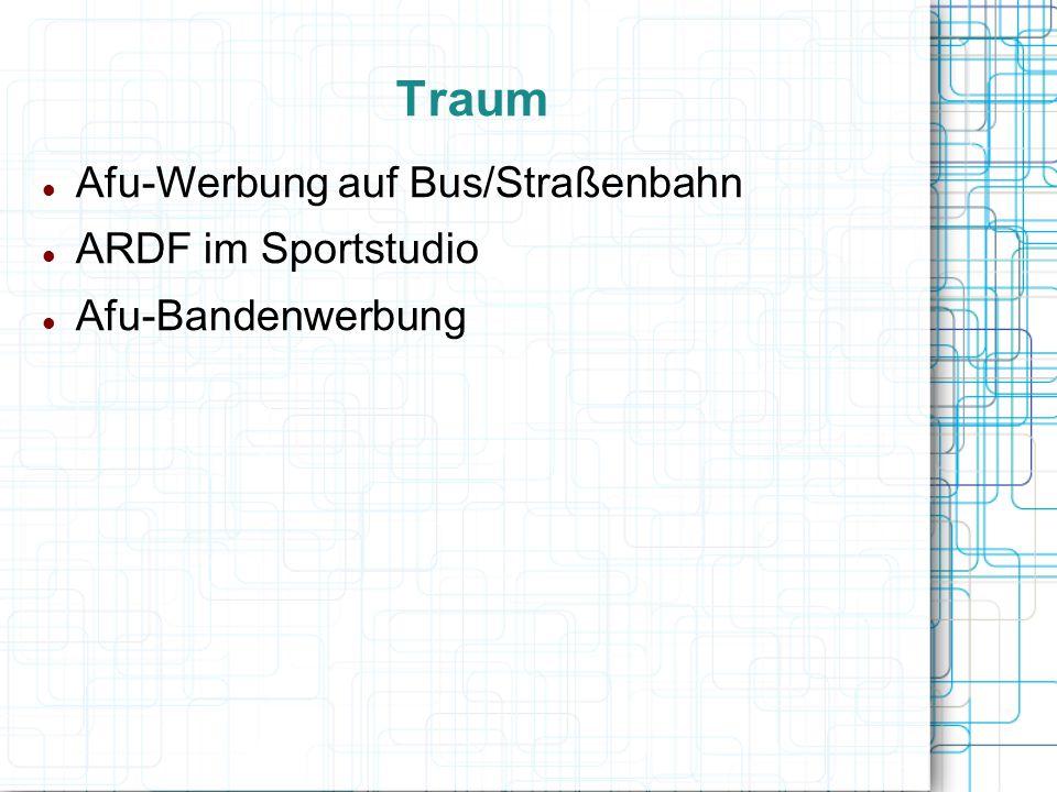 Traum Afu-Werbung auf Bus/Straßenbahn ARDF im Sportstudio