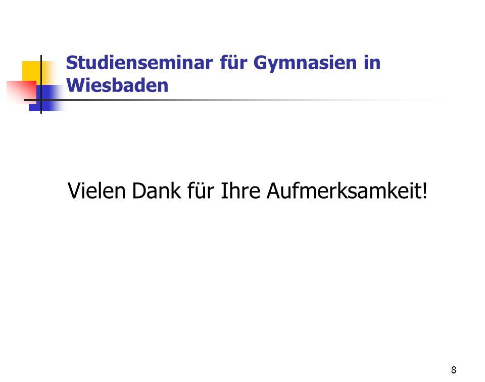 Studienseminar für Gymnasien in Wiesbaden