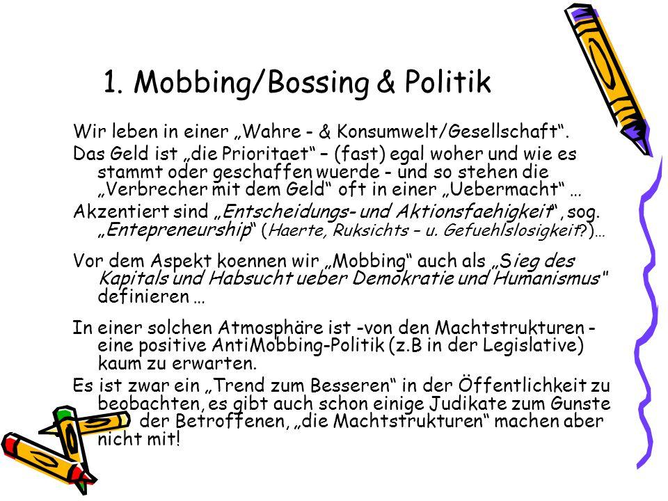 1. Mobbing/Bossing & Politik