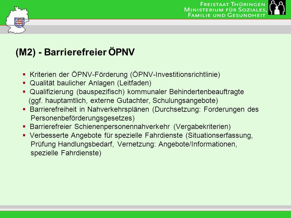 (M2) - Barrierefreier ÖPNV