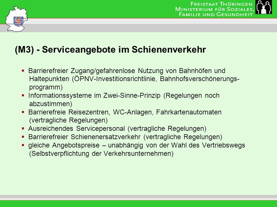 (M3) - Serviceangebote im Schienenverkehr