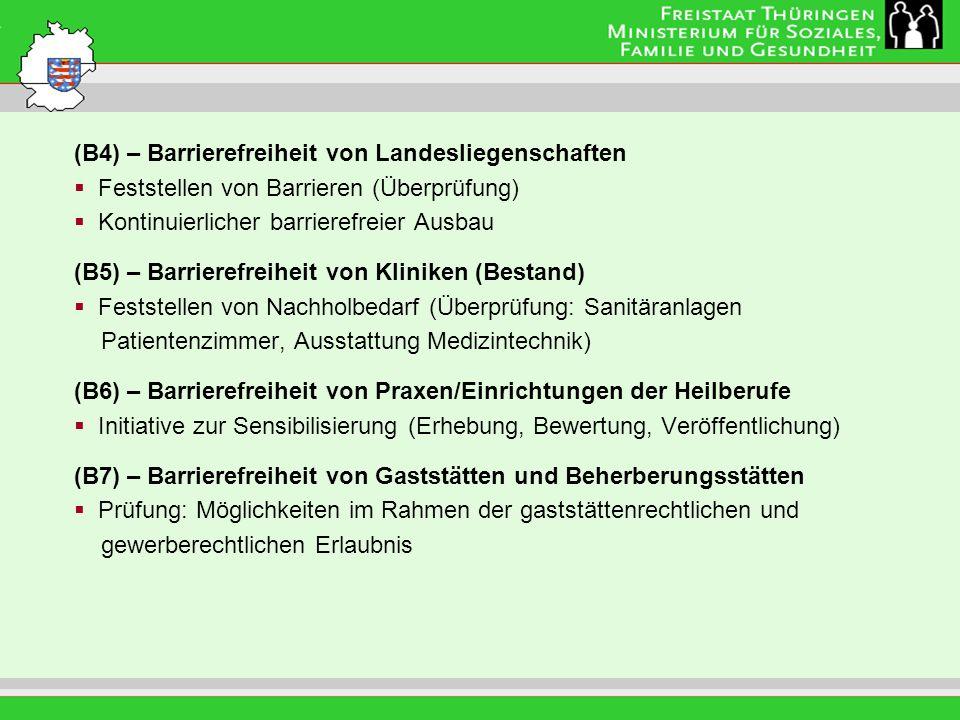 (B4) – Barrierefreiheit von Landesliegenschaften