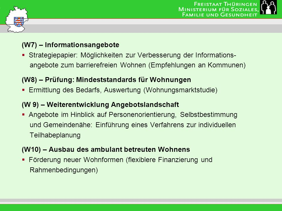 (W7) – Informationsangebote