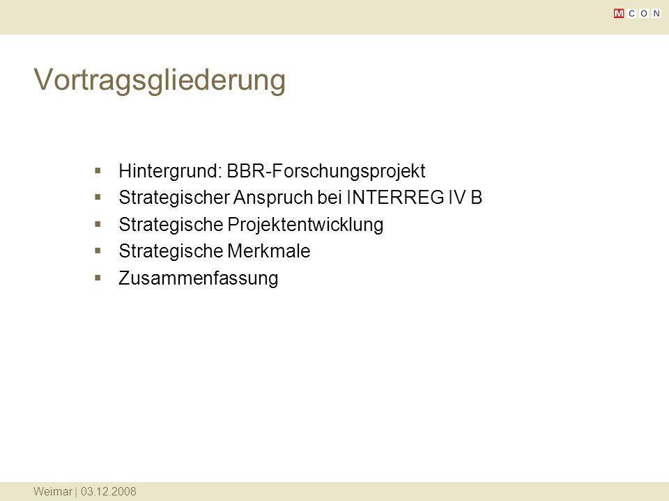 Vortragsgliederung Hintergrund: BBR-Forschungsprojekt