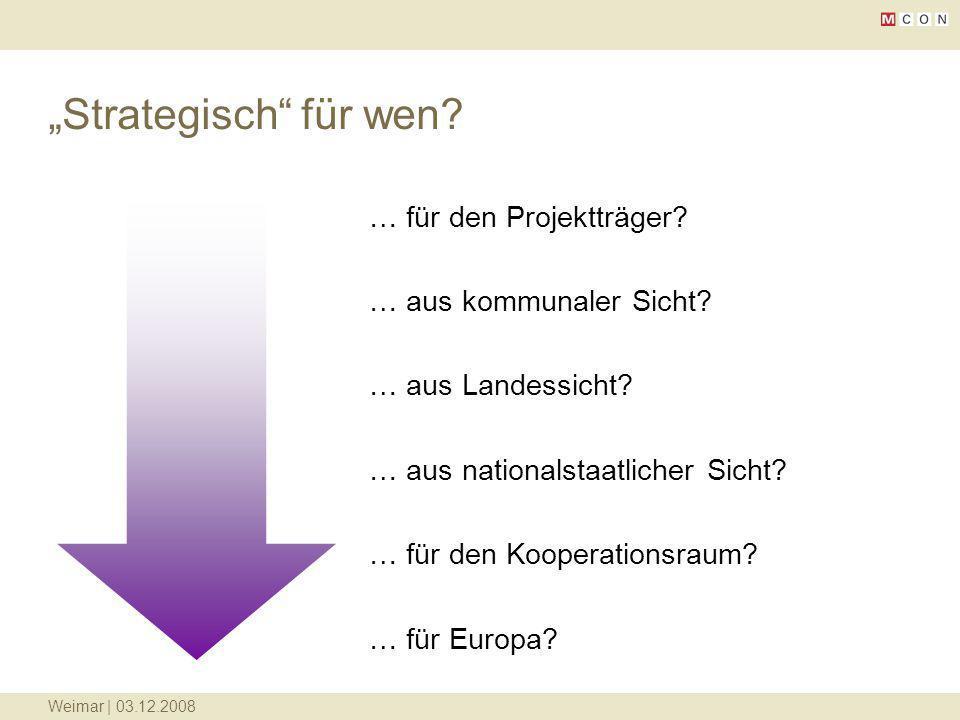 """""""Strategisch für wen … für den Projektträger"""